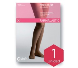 Farmalastic media larga blonda (A-F) compresión normal T-reina plus beige 1ud