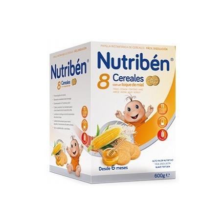 Nutriben 8 Cereales, Miel Y Galletas María 600 g