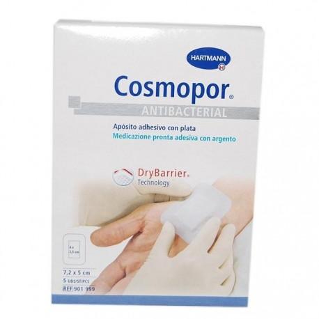 cosmopor antibacterial 7,2x5cm 5 uds