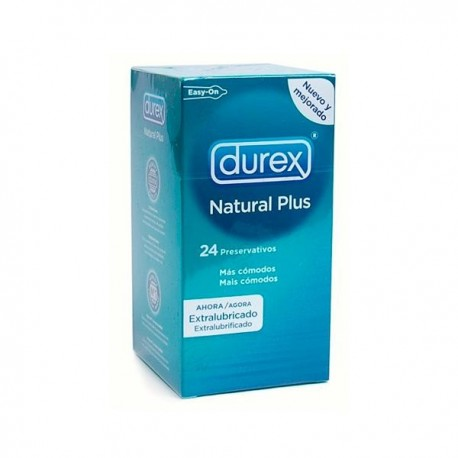Preservativo Durex Natural Plus Easy on 24u.