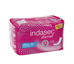 Indasec Discreet Normal 12 Compresas