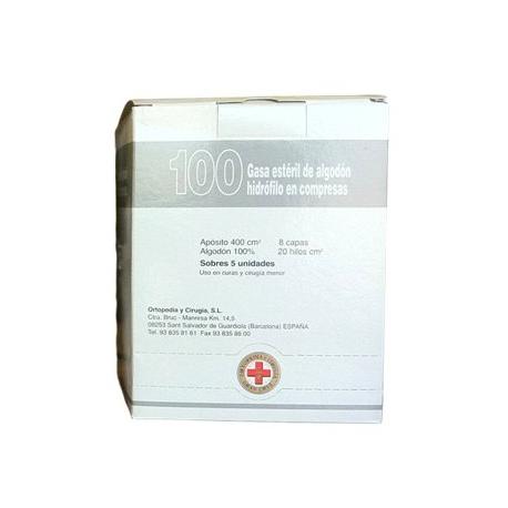 compresas gasa esteril gran cruz c/100 u