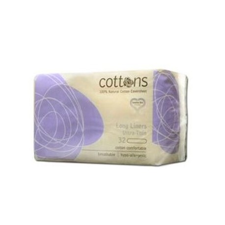 Cottons Salvaslip Extralargo Ultrafino 100% 32u