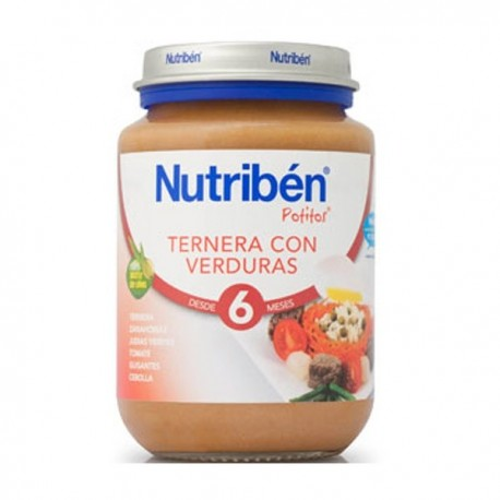 nutriben junior ternera/verduras 200gr.