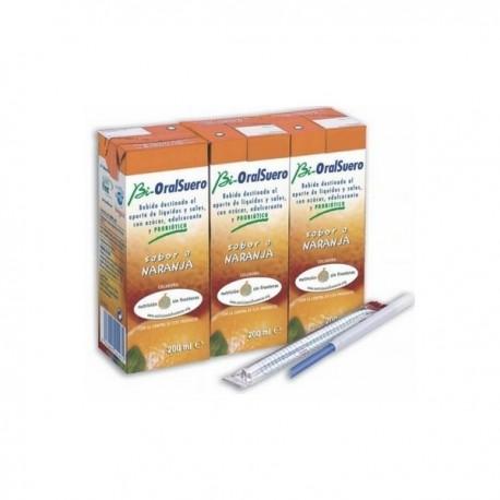 bioralsuero naranja pack 3 brick x 200ml