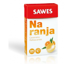 caramelos sawes naranja s/azucar cajita