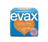 compresas evax cottonlike super alas 12u