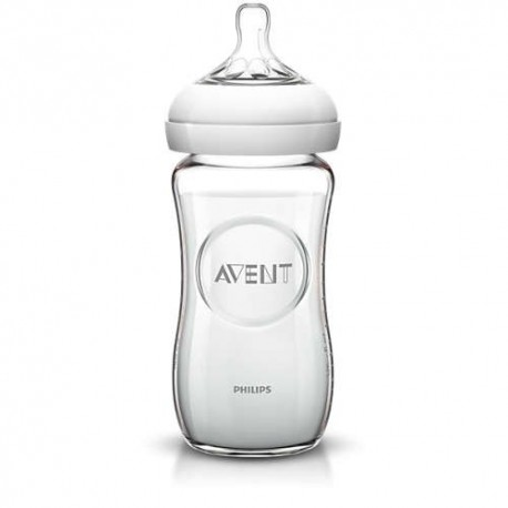 Avent Biberón Natural de cristal 240ml