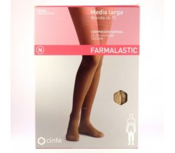 Farmalastic Media Larga Normal Beige Talla Reina