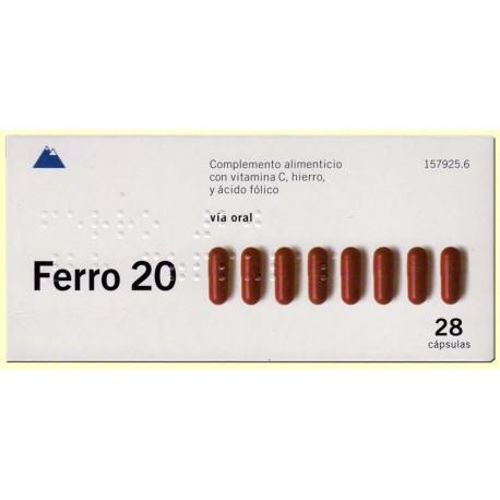 ferro 20 28 capsulas