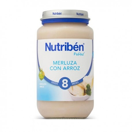 nutriben junior merluza con arroz 200gr