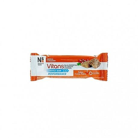 Ns Vitans Energy Bar Performance Frutos Rojos 16 Barritas