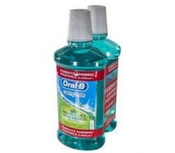 ORAL-B COLUTORIO MENTA SIN ALCOHOL 2x 500ML