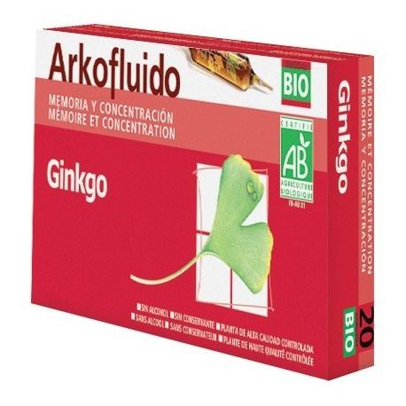 arkofluido ginkgo biloba 20 ampollas