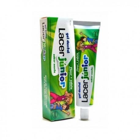 lacer gel dental junior menta 75 ml.