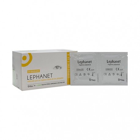 lephanet 30 toallitas limpiadoras ojos