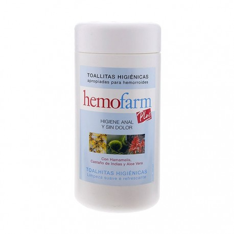 hemofarm plus toallitas bote 60 uds.