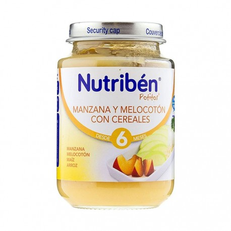 nutriben junior manza/melocot/cereal 200