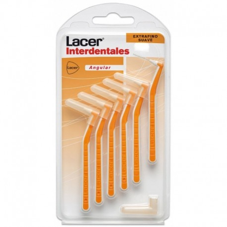 cepillo interdent lacer extrafino angular suave 6u.